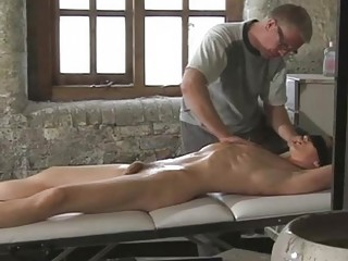 Great looking gay boy gets tied while daddy plays with his dick