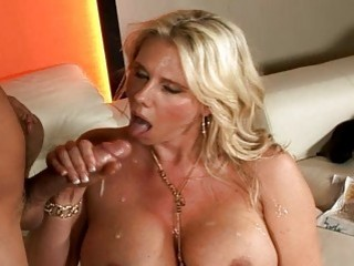 Busty blonde boss forced her driver to fucking