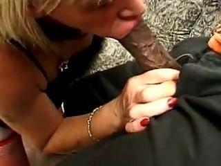 Horny crossdresser drilled by black stud