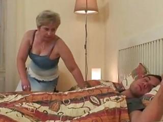 Big Tits Blonde Granny Taking Sw...