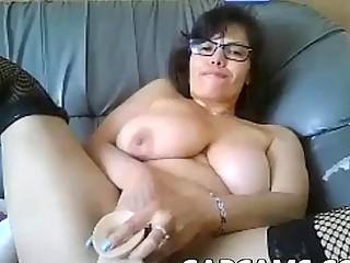 Amateur chubby milf dildo webcam show