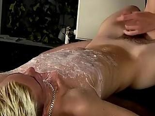 Gay XXX Splashed With Wax And Cum