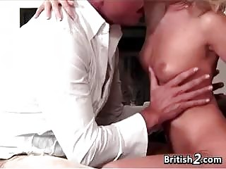 Blonde European With Small Tits