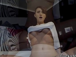 Big boobs Milf getting cunt creampie pov