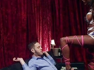Tranny Domme Cums On Her Client!