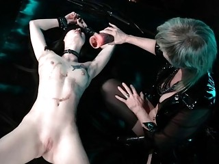 Horny mature mistress in action