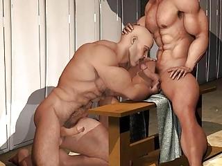 3D Gay Big Dicks and Big Muscles