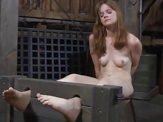 Lusty whores are stuffed inside a miniature cage