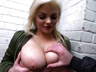 Bigtits Katy gets fuck by a hunk dude