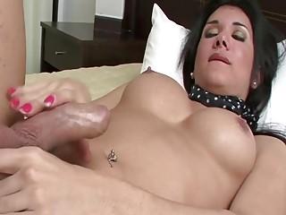 Viri  Insanely Hot Tranny Rubbing Her Uncut Cock