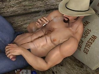 3D Athletic Males with Big Cocks