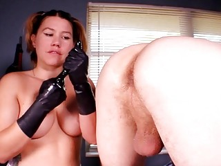 Bulky blonde vixen is an expert for the prostate exams