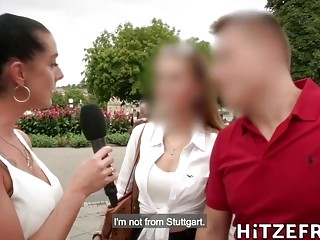 Stunning German brunette MILF Jacky Lawless gets her ass gaped