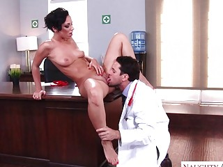 Cougar fucked hard by her doctor in an office HD
