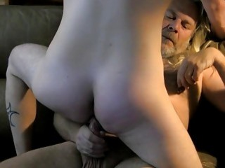 Young Wyatt Blaze blowjob and riding daddy big cock cumshot