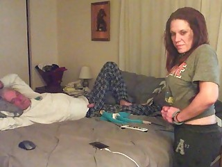 Brunette slut makes sex tape with a really old dude