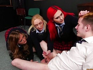 Group of college students gets naughty in a sexy foursome