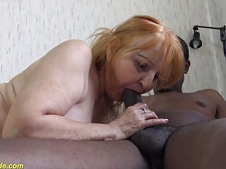 ugly 77 years old mom fucked by black stepson