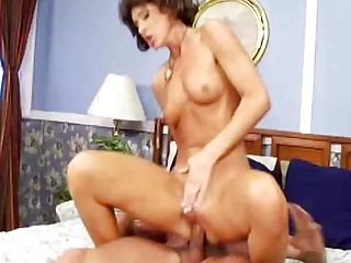 Skinny Redhead Riding The Cock