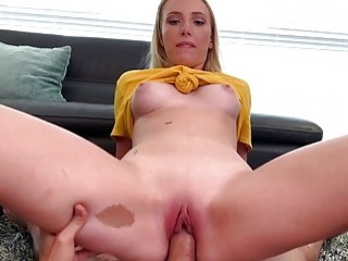 Teen sucks her stepbrother's dick before he nails her missionary