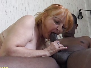 ugly chubby 78 years old mom loves black stepson