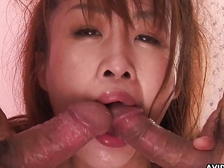 Japanese woman Ryo Takizawa had mmf action uncen